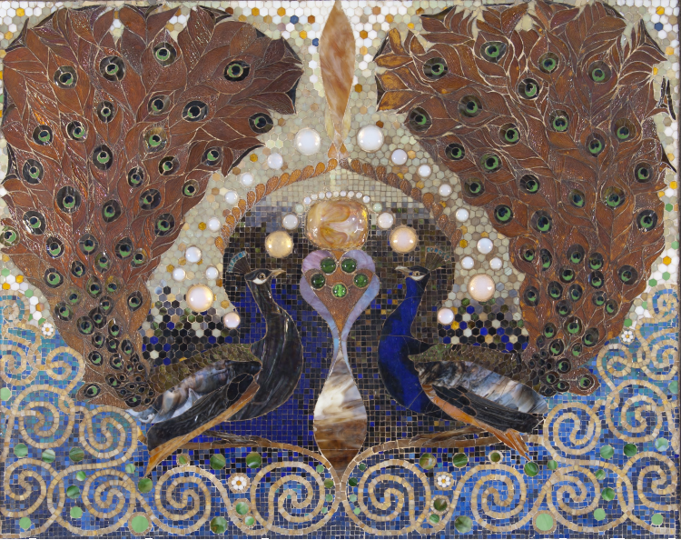 Beautiful Peacock Mosaic Artwork