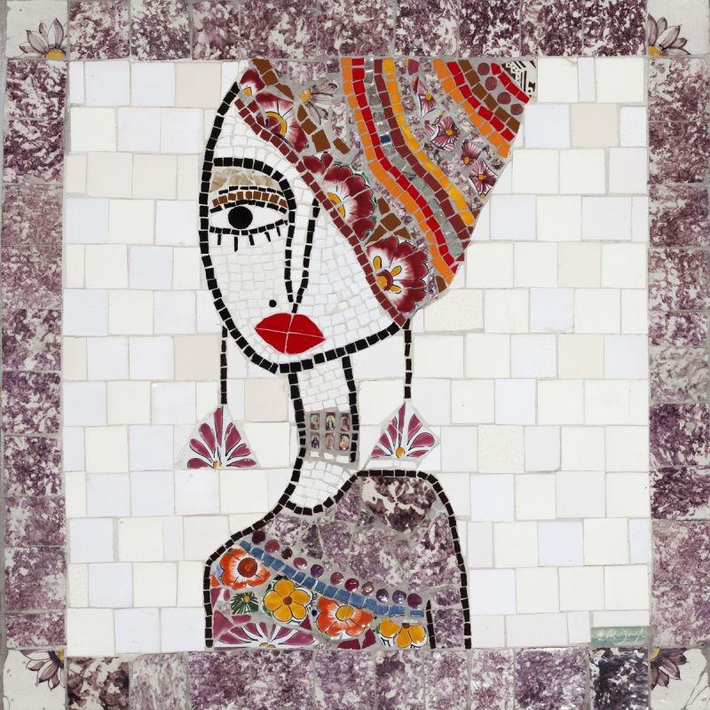 Mosaic artwork of a black woman by Mosaics KAb
