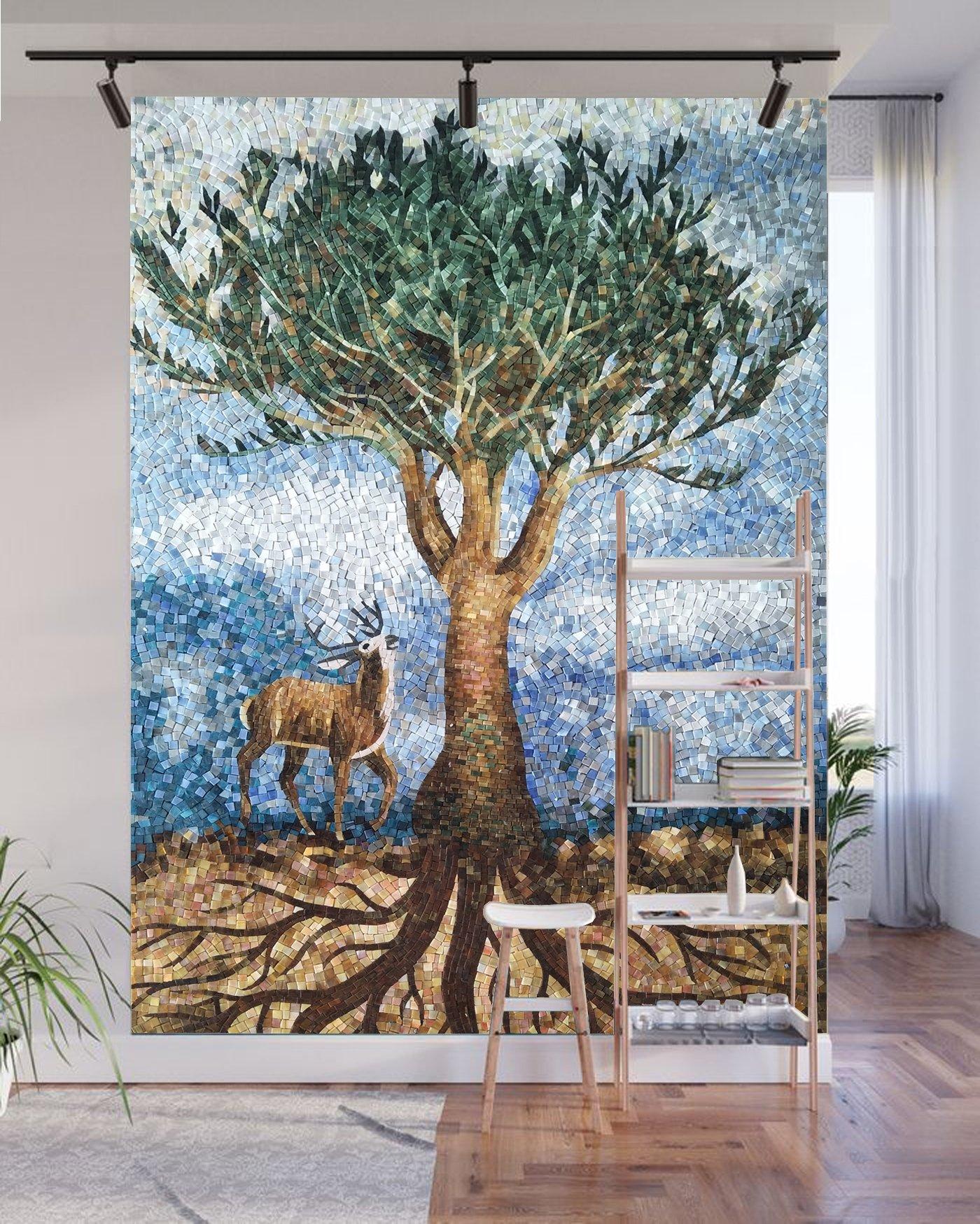 Handmade Mosaic Design Mural by Mosaics Lab