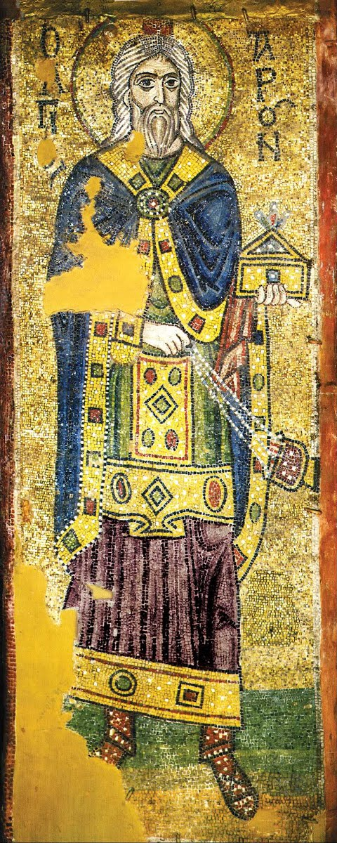 The high priest Aaron Mosaic Artwork