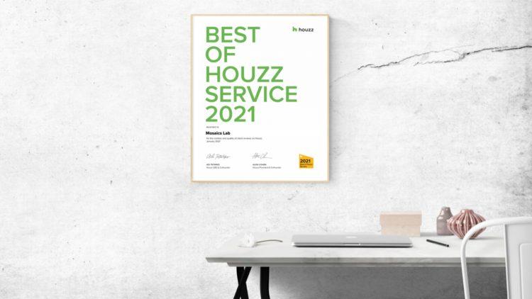 Mosaics Lab Awarded Best of Houzz Award