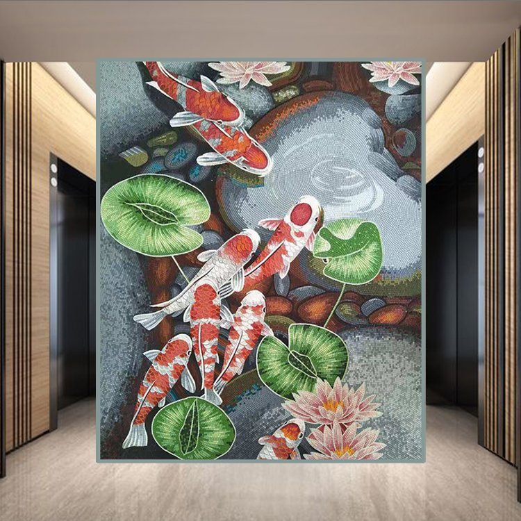 Mosaic Mural for Home Office by Mosaics Lab