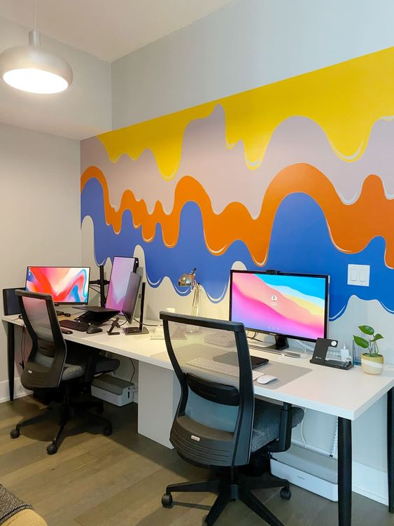 Beautiful Mural Art for the home office