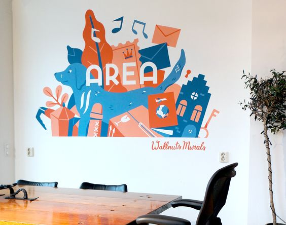 Gorgeous Home Office Mural Design