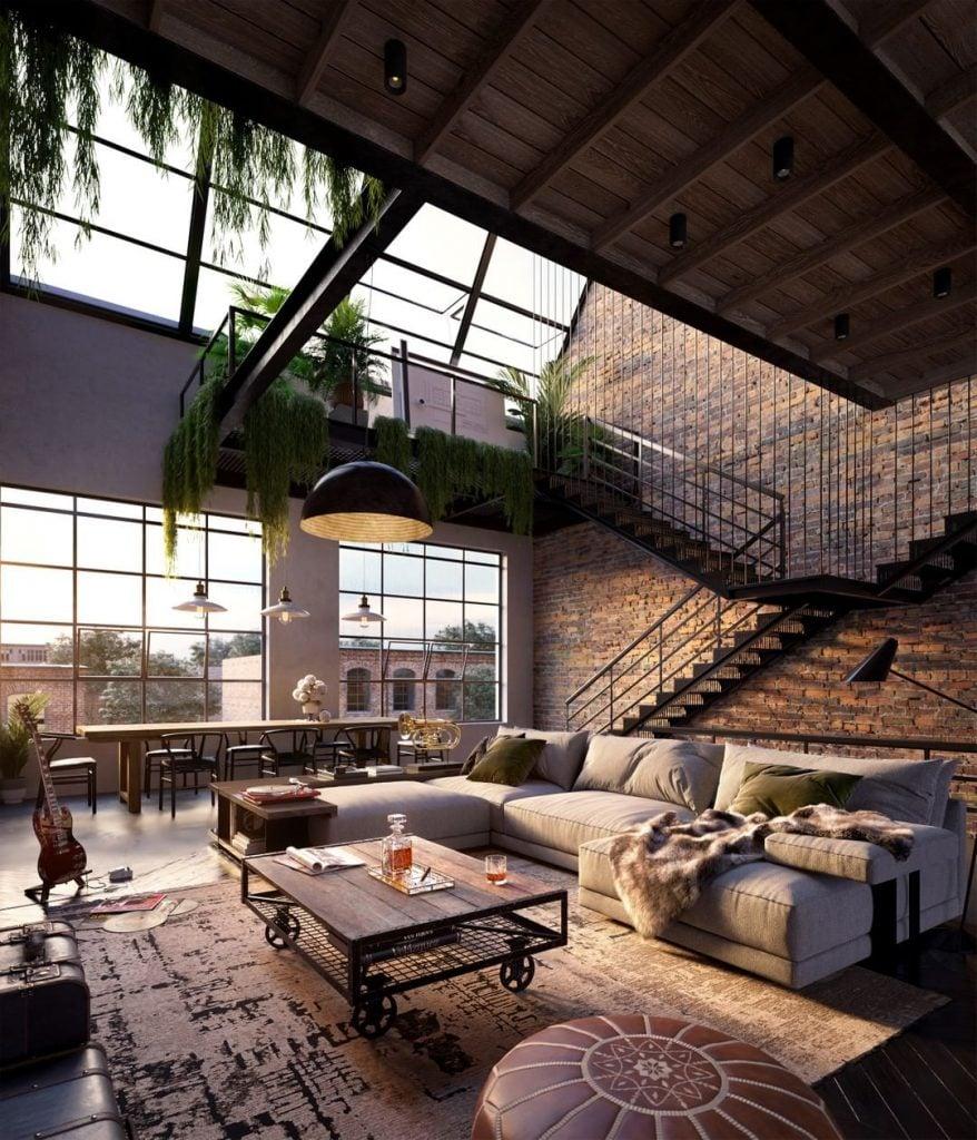 Open concept interiors.