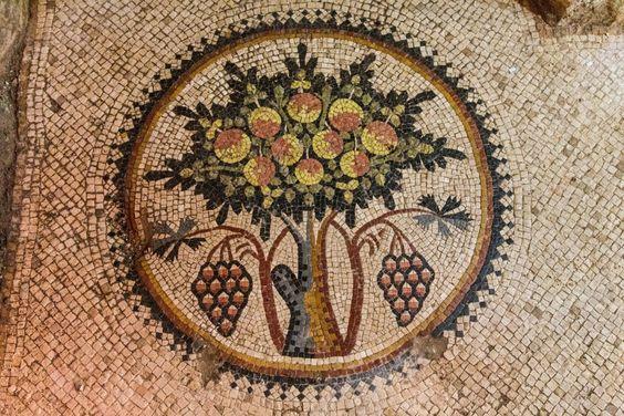 King's Highway at Mount Nebo in Madaba, Jordan. Mosaic Art Destination at Jordan.