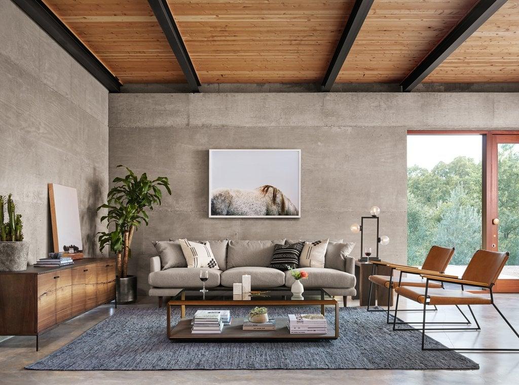 Open concept interior design.