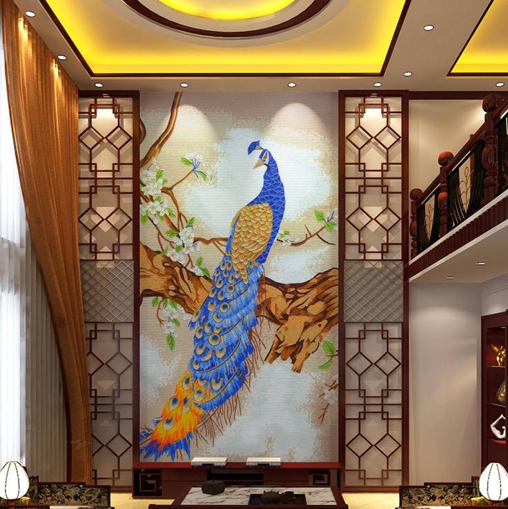 Peacock Mosaic Artwork, Peacock Designs, Peacock Murals
