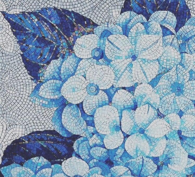 Floral Mosaic Art, Floral Mosaic Designs, Mural Mosaic Art