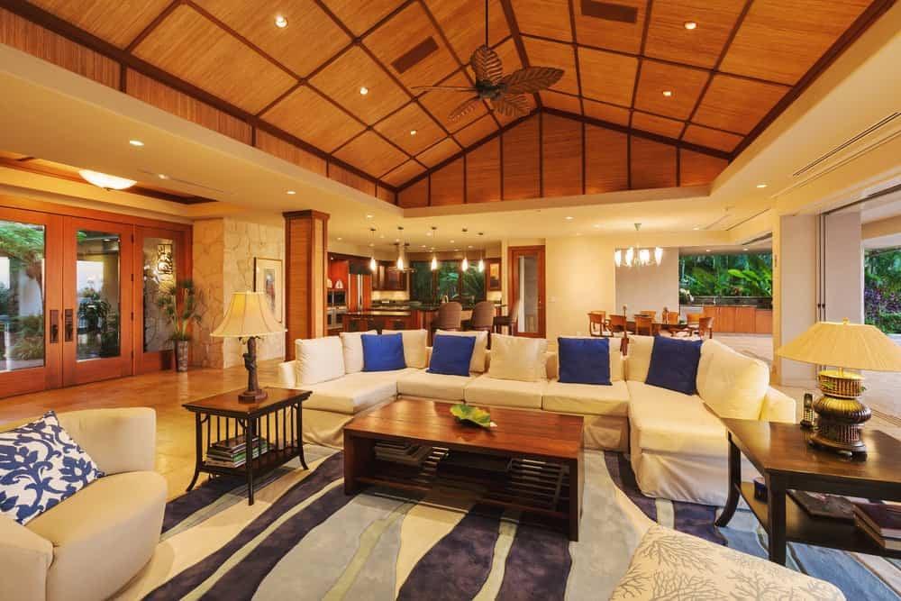 Open floor interiors