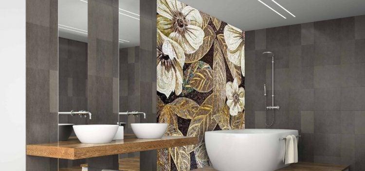 Floral Mosaic Artwork, Floral Mosaic Murals, Floral Mosaic Designs