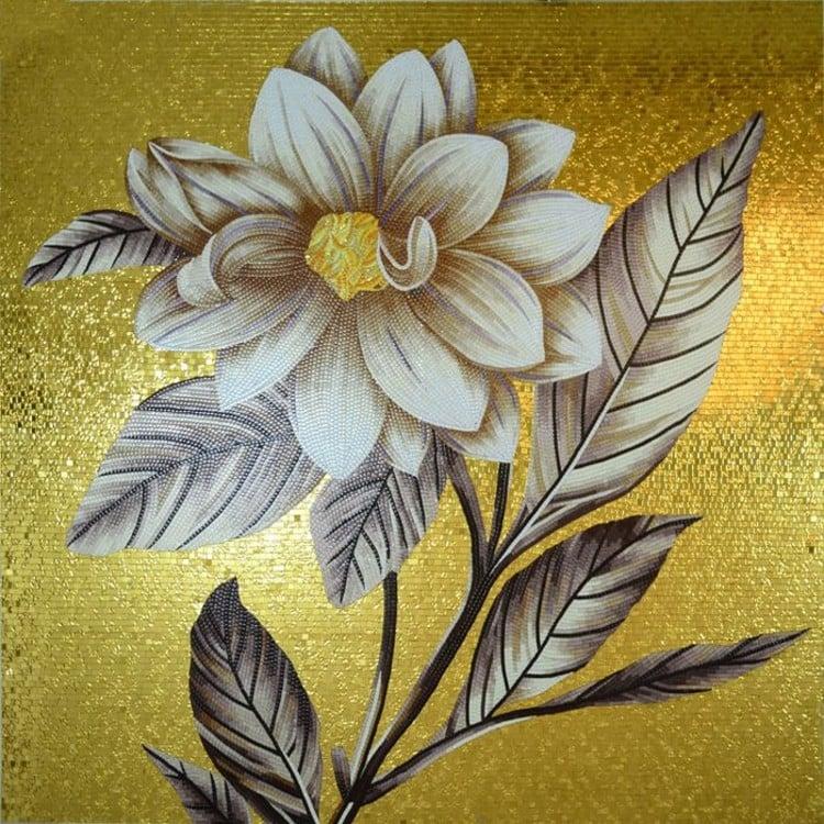 Flower mosaic designs by mosaics lab