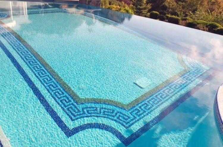 Beautiful roman Pool tiles