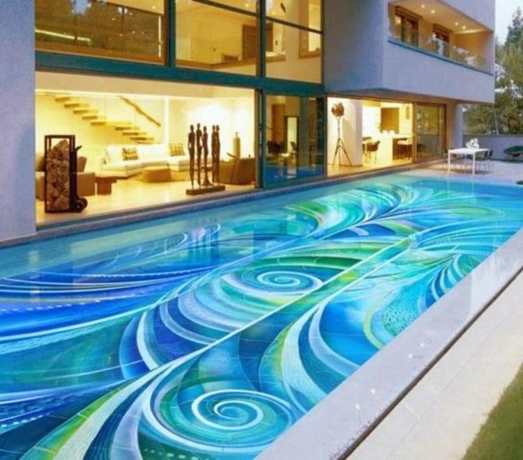 Gorgeous pool mosaic tiles