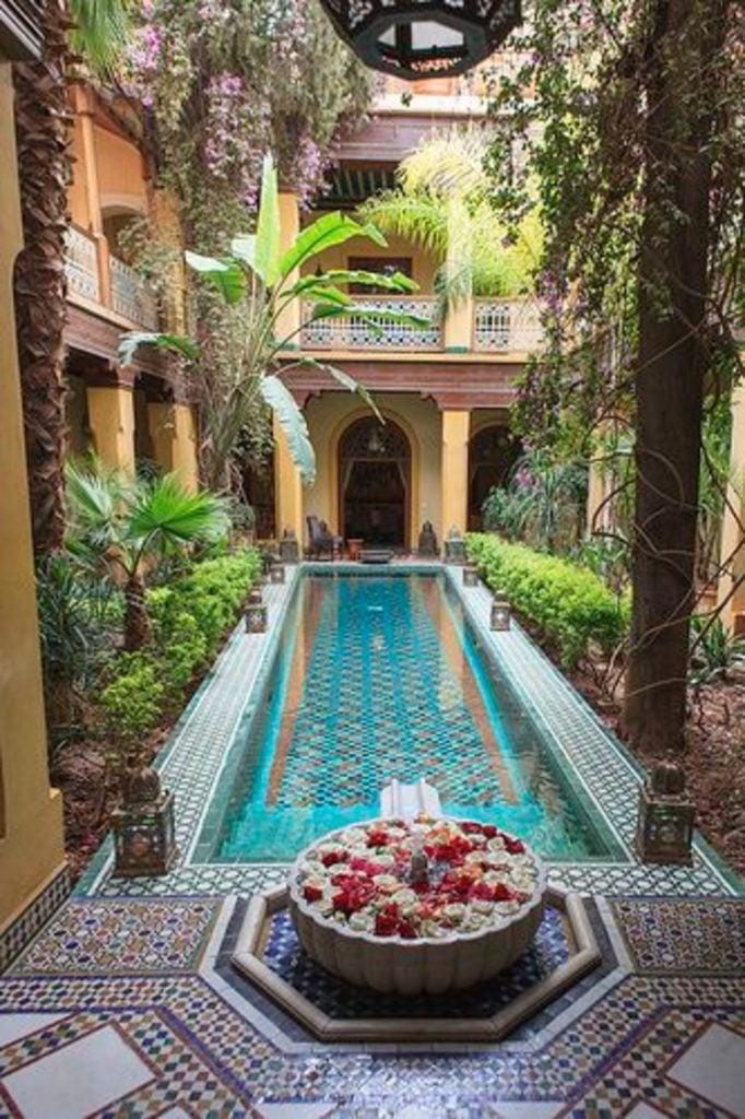 Beautiful pool mosaic tiles