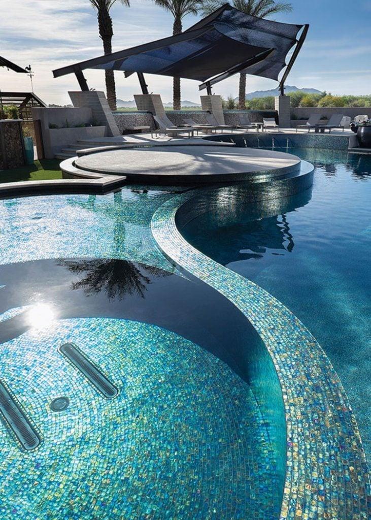 Stunning pool mosaic tiles and mosaic artworks
