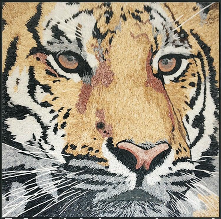 Majestic Tiger Mosaic Artwork