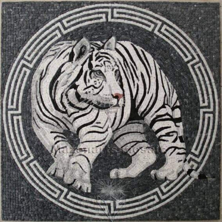 Tiger Mosaic Art