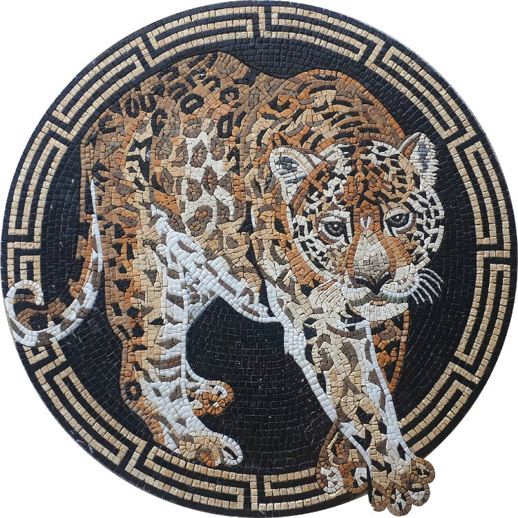 Tiger Mosaic Medallion Designs