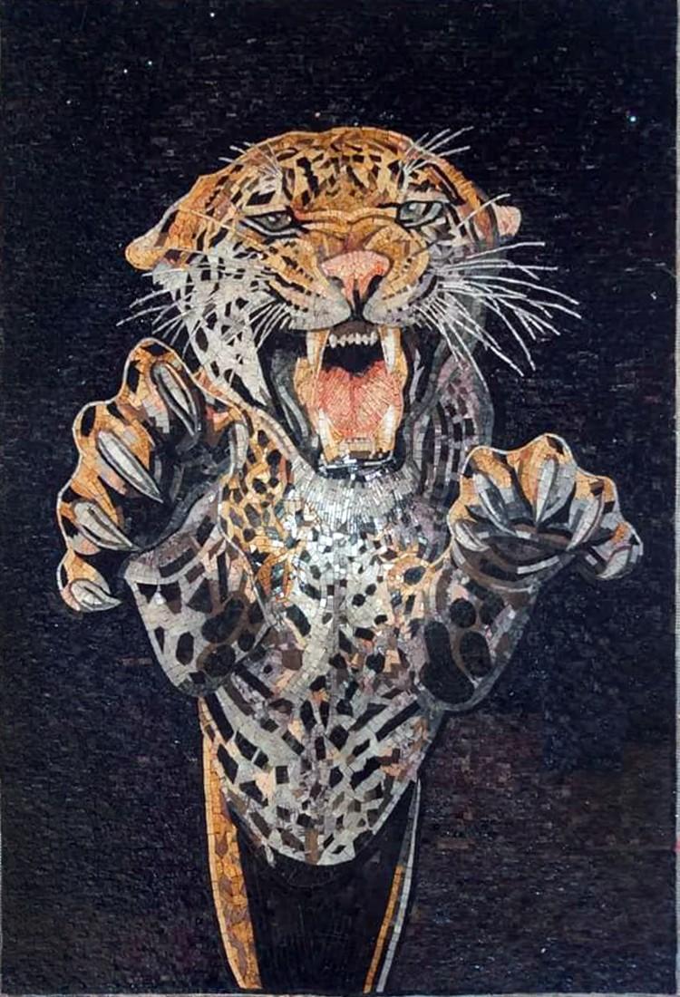Tiger Mosaic Mural Artwork