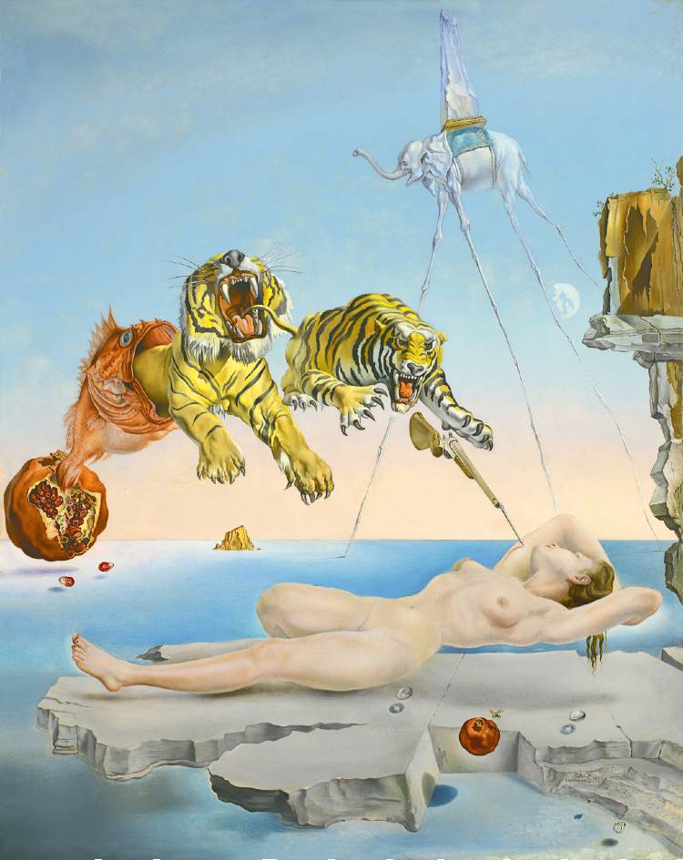 Dream Caused by the fight of a bee by Salvador Dali