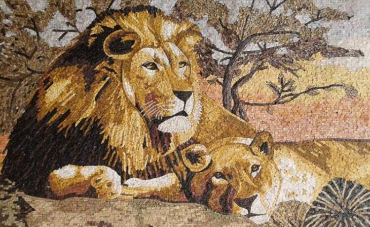 Tiger Mosaic Art, Tiger Mosaic Designs, Tiger Mosaics