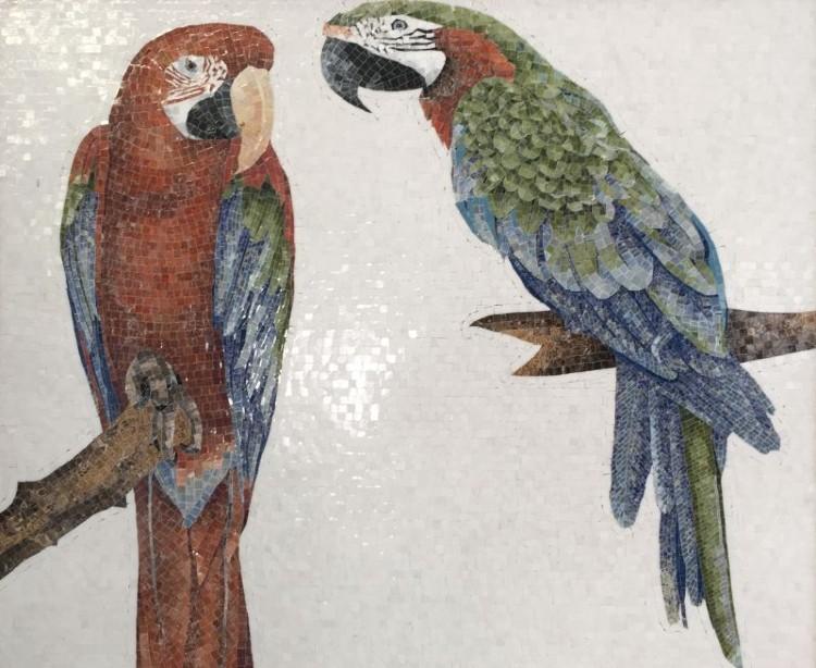 Bird Mosaic Murals and Designs