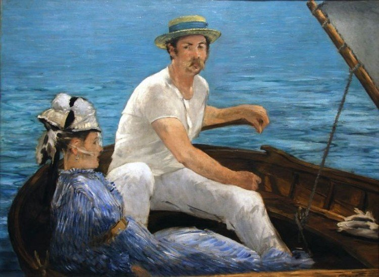 Boating artwork by Edouard Manet