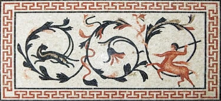 Roman Mosaic Mural Design by Mosaics Lab