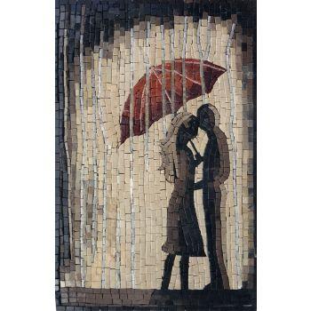 Furtive Kiss Tile Mosaic Art