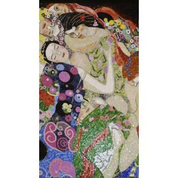 Gustav Klimt's The Virgins Mosaic Artwork