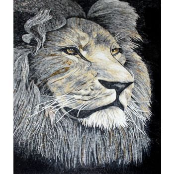King of The Beasts Mosaic Artwork