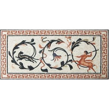 The Hunt Roman Mosaic Art