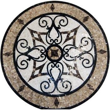 Follow Suit Medallion Marble Mosaic