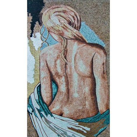 Blonde Nude Mosaic Artwork