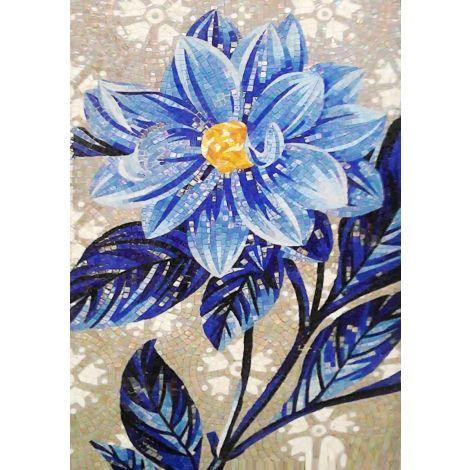 The Blue Dahlia Mosaic Artwork