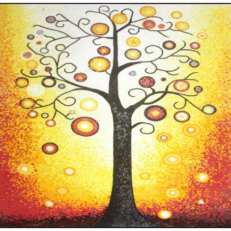 Sunset Tree Mosaic Design