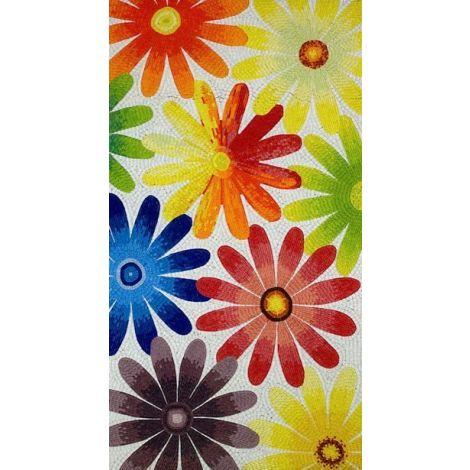 Playful Daisies Mosaic Design