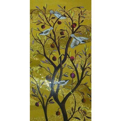 Golden Stories Tile Mosaic Artwork