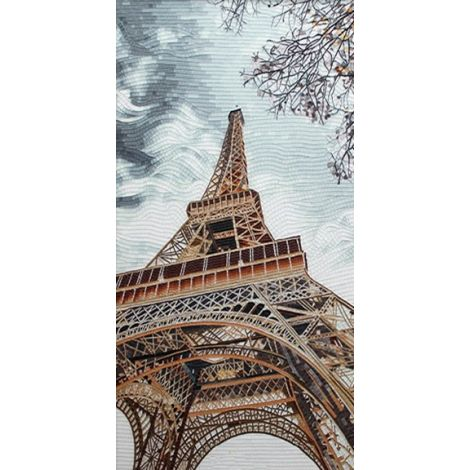 La Tour Eiffel Mosaic Artwork