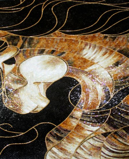 Gold Phantasm Mosaic Design
