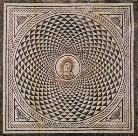 Hypnotizing God Marble Mosaic Design
