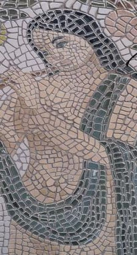 Enlightening Musician Mosaic Artwork
