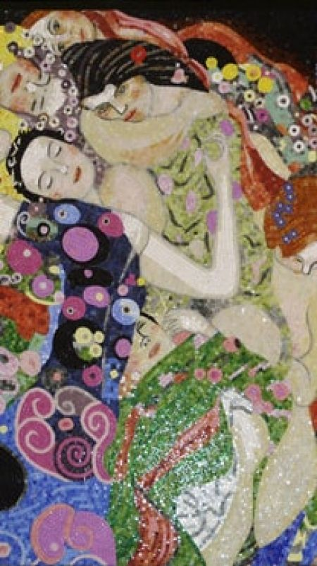 Gustav Klimt's The Virgins Mosaic Artwork