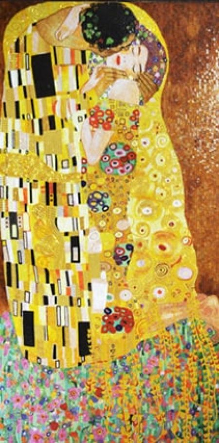 Gustav Klimt's The Kiss Mosaic Art