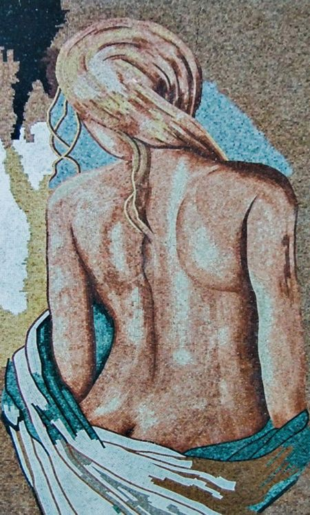 Blonde Nude Mosaic Artwork