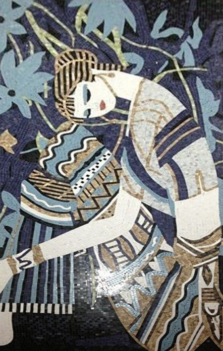 Resting Woman Mosaic Art