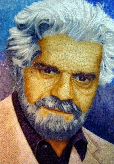 Omar Sharif Mosaic Portrait