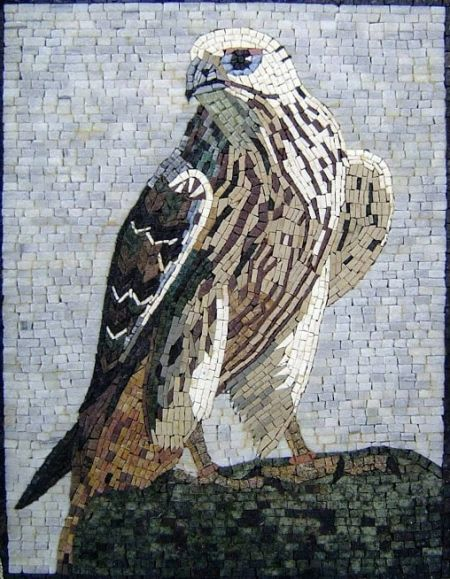 Feathered Beholder Mosaic Artwork