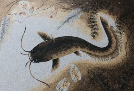 Oriental Catfish Mosaic Art